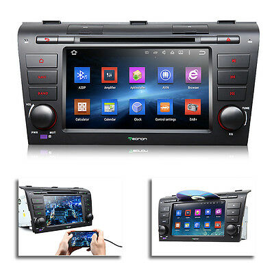 """Android 5.1.1 7"""" Car DVD Player GPS w/ EasyConnection for Mazda 3 04-09"""