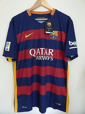 Nike FC Barcelona 2015 / 2016 Home Football Shirt Jersey Size L Large New 7 Arda
