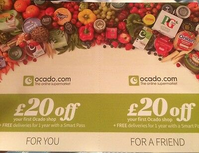 20 Pound Off Voucher Ocado Supermarket For You And A Friend Food