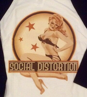 Social Distortion 3/4 sleeve baseball shirt NWT Medium Hot Topic