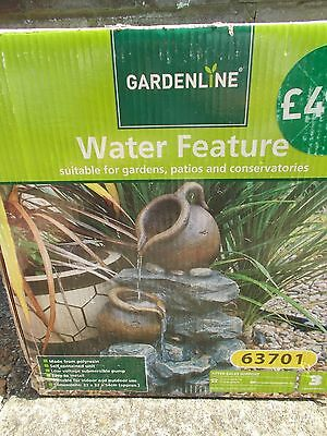 Jug Cascade Water Feature - Outdoor or Indoor - New & Boxed - Self-Contained