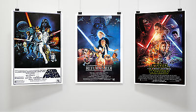 Star Wars Posters Origional Classics Movie Poster Collector Set of 3 x A3 | E118