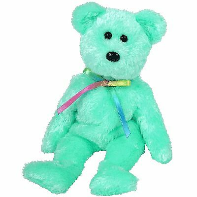 LIME / GREEN SHEBERT the bear ~ RETIRED ~ TY Beanie Baby / Babies ~ MWMT