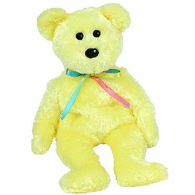 LEMON / YELLOW SHEBERT the bear ~ RETIRED ~ TY Beanie Baby / Babies ~ MWMT