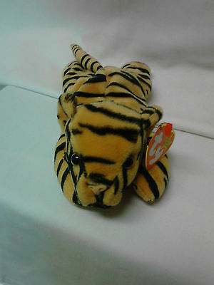 STRIPES the tiger ~ RETIRED ~ TY Beanie Baby / Babies ~ MWMT