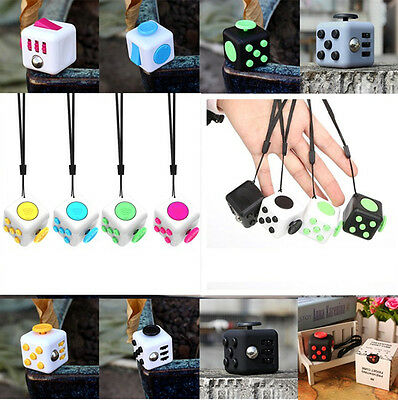 Magic Fidget Cube Anti-anxiety Adults Stress Relief Kids Toy Xmas Gift
