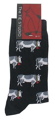 Adult Cotton Premium Quality Socks Birthday Novelty Gift - Cow Style