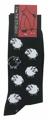 Adult Cotton Premium Quality Socks Birthday Novelty Gift - Black and White Sheep