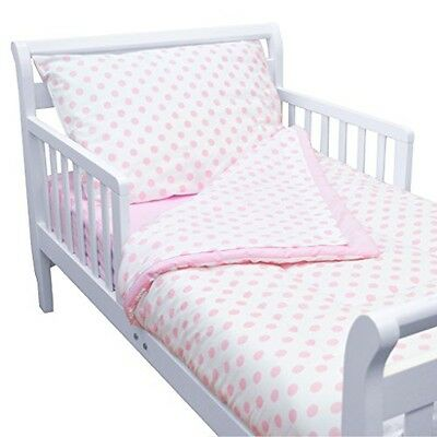 American Baby Company 100% Cotton Percale 4-piece Toddler Bedding Set, Pink