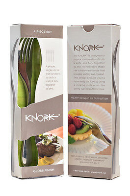 KNORK 4 PIECE PACK Stainless Steel Brand New in Retail Packaging FREE POST