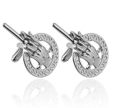 Silver Game of Thrones Hand of the King Cufflinks Seven Kingdoms UK Seller