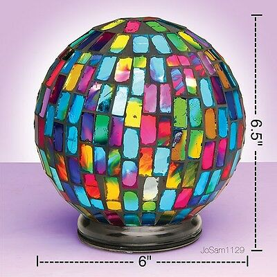 MOSAIC GLASS GLOW LIGHT - MOSAIC Tabletop or Hanging Color Changing Globe