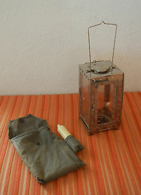 Vintage Swiss Army Folding Lantern inkl. Case Hiking Camping military CH ~1970