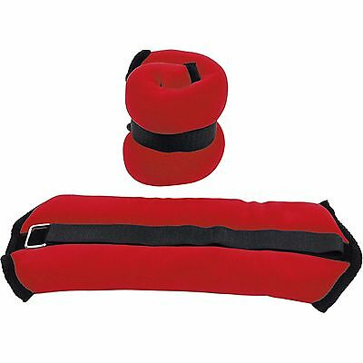 Valor Fitness Home Gym Body 3-Pound Pair Red Ankle Weight Workout Exercise Set