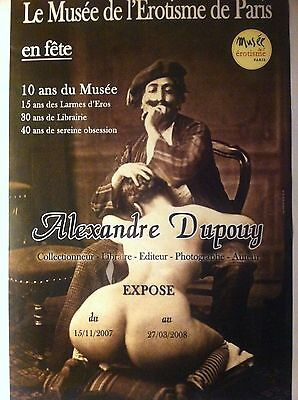 Affiche Collector Encadree - Musee Erotisme - Exposition A. Dupouy