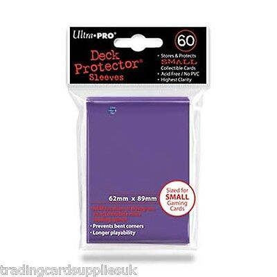 60 Ultra Pro Purple Deck Protectors Trading Card Gaming Sleeves.