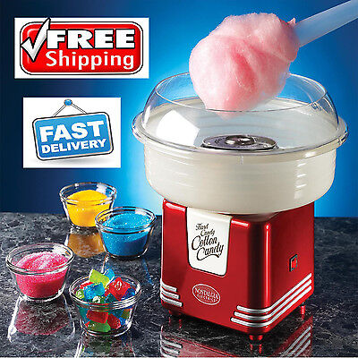Retro Cotton Candy Maker Commercial Electric Red Sugar Cotton Making Machine