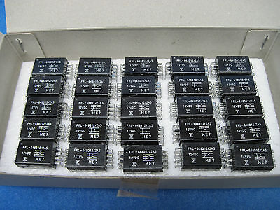 (LOT OF 25) NEW FUJITSU Reed Relays (FRL-648D12/2AS): DPST, 12V Coil,  2 Form A