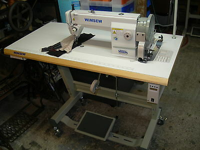 Industrial Flat Bed Sewing Machine – Wimsew - with large capacity bobbin