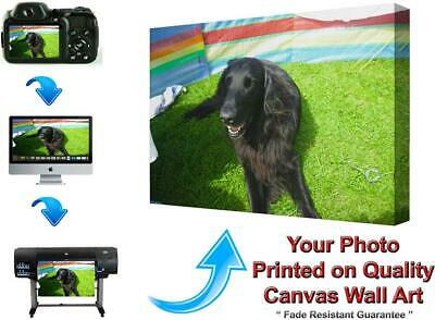Personalised A1 LARGE 51 x 76 cm CANVAS Print,Your PHOTO PICTURE18mm DEEP Framed
