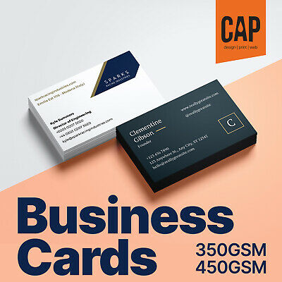 Business Cards Single / Double Sided On 350Gsm / 450Gsm Silk Full Colour Print