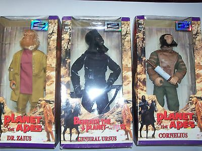 """Planet of the Apes 30th Anniversary 12"""" 3pc. Figure Set Hasbro Signature Series"""