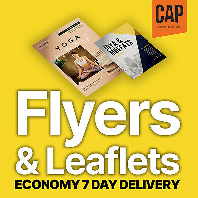 Leaflet & Flyer Printing • A6, Dl, A5, A4, A3 • Single / Double Sided • From £33