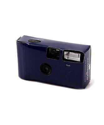 Classic Navy Blue Disposable Cameras with Flash Wedding Favour Party 2 Pack