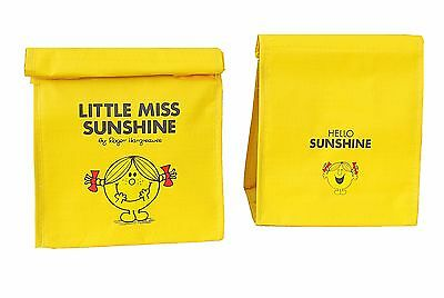 Little Miss Sunshine Mr Men Lunch Box Cool Bag Yellow