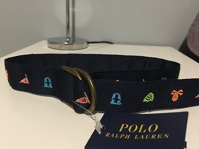 "Ralph Lauren Polo Boys Belt XS Up To 20"" Bnwt"