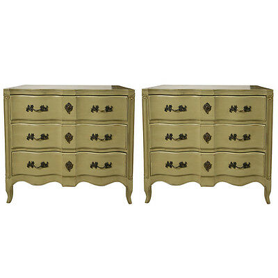 Pair of French Provincial Style Painted Chests 102-8442