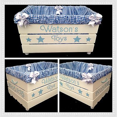 Hand Made Bespoke Large Toy Box Storage Crate Floral Shabby Chic  FREE POSTAGE