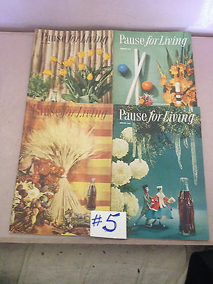"Full Set Of 4 1957 ""pause For Living"" Coca Cola Booklets"