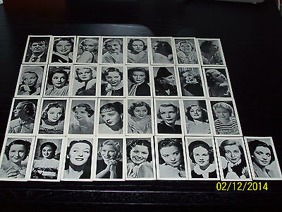 R J Hills Famous Film Stars ( Arabic Text ) A Series 35 Excellent-Mint Cards