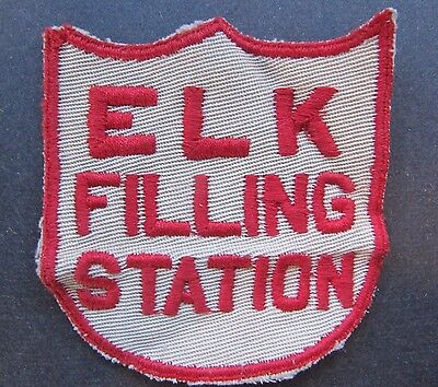 Vintage Elk Filling Station Gas/oil Employee Uniform Cloth Embroidered Patch