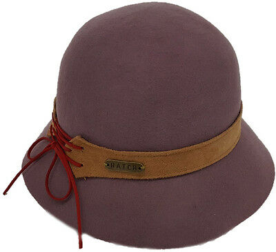 042b77a3ec7 Women s Floppy Fedora Cloche Hats Fall Winter 100% Wool Felt Taupe Color hat