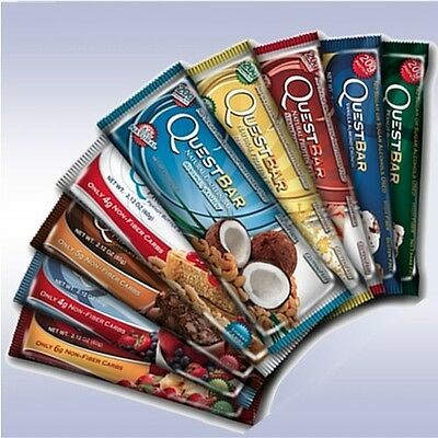 QUEST BARS (2 BOXES) high protein hero cookie powder cereal chip snak crisp one
