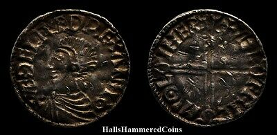 Aethelred II Penny - Long Cross Type - Leicester Mint (HHC3953)
