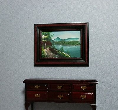 Miniature Real Oil Painting Hand Painted For The Dolls House In Twelfth Scale