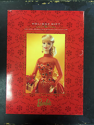 1998 Holiday Gift Barbie Doll - Holiday Porcelain Barbie Collection Ltd Ed