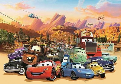 Disney Pixar Cars 1 LARGE PHOTO WALL MURAL ROOM DECOR WALLPAPER NEW