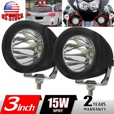 2x 15W 3'' inch LED Work Light Spot Fog Driving Head Lamp Offroad Motorcycle ATV