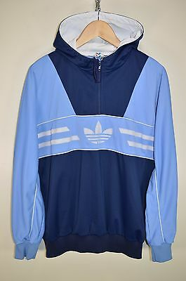 vtg 80s ADIDAS LONGBEACH HOODIE TRACK JACKET TRACKSUIT TOP CASUALS size 52 LARGE