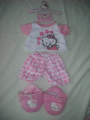Chad valley design a bear hello kitty bedtime pyjamas outfit with hanger