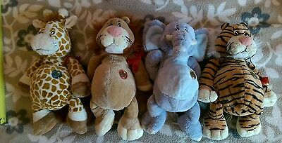 Keel Wild Bunch Soft Toy Plush Beanie Bottom  set of 4Collectable