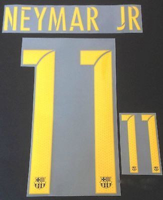 NEYMAR JR 11 Barca Home 2016-17 YOUTH Shirt Print Name Number Set Transfer KIDS