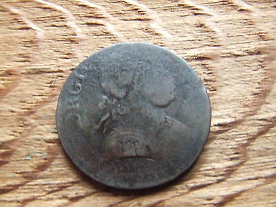 George Iii     Halfpenny.   Evasion Issue.  Rare.    Nice Condition.