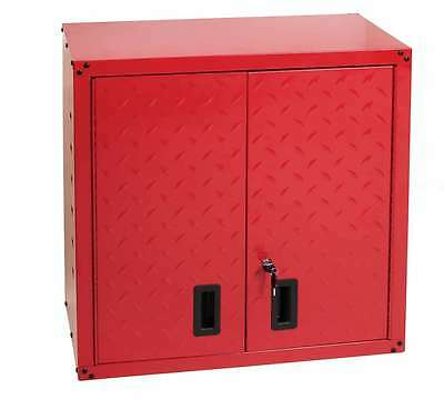 Hilka Tool Cabinet Garage Wall Unit Tool Storage Cupboard Box Chest Red