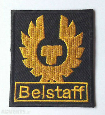 BELSTAFF Patch 6cm Iron-On Gold Embroidered Badge Applique Toppa Parche Bordado