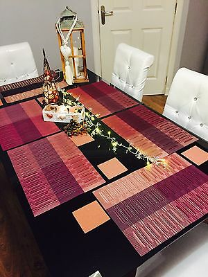New 6 pcs Placemat PVC Daning Table kitchen Mats and 6 coasters Set gift